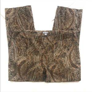 J. Jill Paisley Print Cropped Pants - Size 10